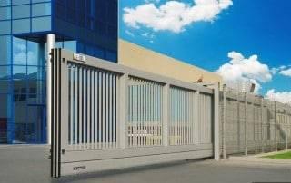 Промислові відкатні ворота для огорожі-4