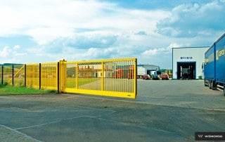 Промислові відкатні ворота для огорожі-10