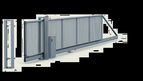 Промислові відкатні ворота для огорожі PI-200 з електроприводом