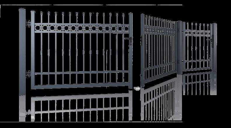 Розпашні ворота та хвіртки для огорожі wisniowski