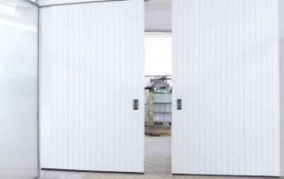 Відкатні підвісні промислові ворота-9
