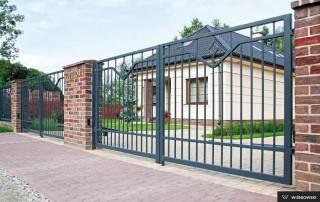 Розпашні ворота та хвіртки для огорожі wisniowski-1