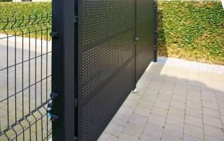 Розпашні ворота та хвіртки для огорожі wisniowski-5b