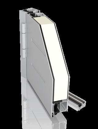 Алюмінієві зовнішні двері CREO для промислових об'єктів