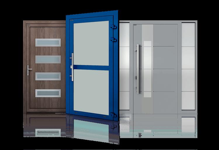 Промислові алюмінієві двері зовнішні та внутрішні для промислових об'єктів