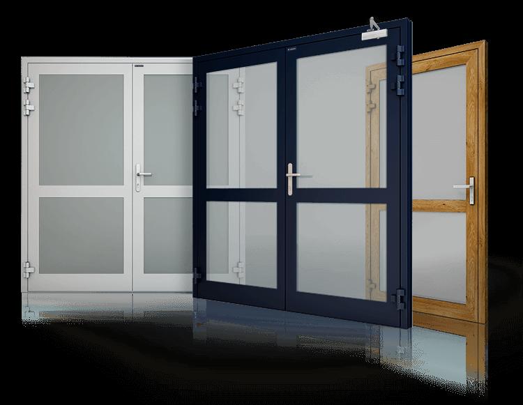 Алюмінієві протипожежні двері, вікна, фасад