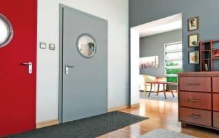 Сталеві суцільні внутрішні двері wisniowski-1