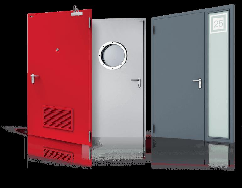 Сталеві суцільні двері зовнішні та внутрішні для промислових об'єктів