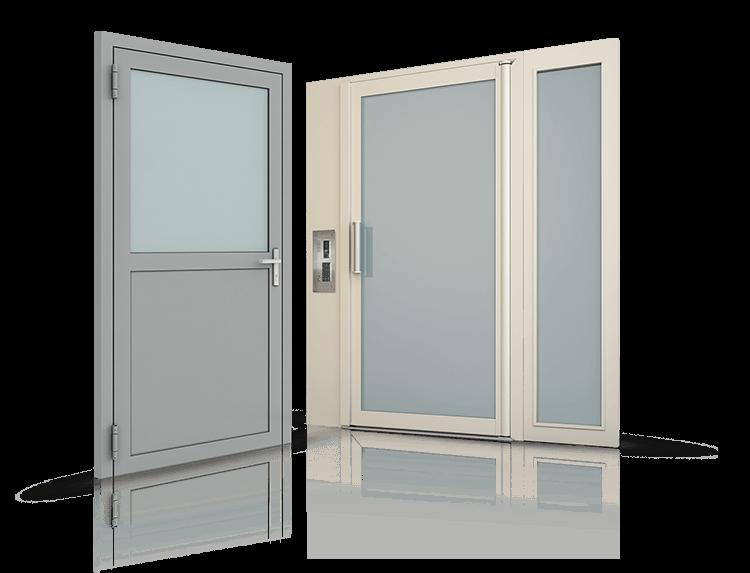 Сталеві профільні зовнішні та внутрішні двері для промислових об'єктів