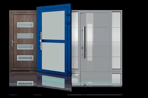 Алюмінієві двері зовнішні та внутрішні для промислових об'єктів