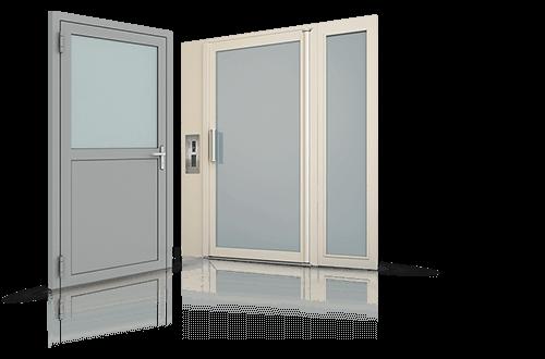 Сталеві профільні двері зовнішні та внутрішні для промислових об'єктів