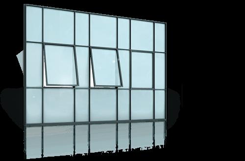 Сталеві вікна для промислових об'єктів