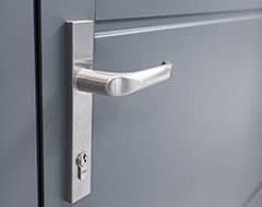 Бокові алюмінієві панельні двері wisniowski. Ручка Jupiter