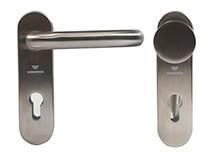 Суцільні сталеві двері wisniowski. Ручка / Ручка-кнопка з нержавіючої сталі
