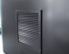 Сталеві протипожежні суцільні двері wisniowski - - вентиляційна решітка