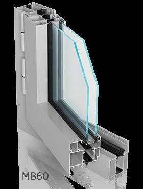 Алюмінієві зовнішні вікна ALUPROF MB60