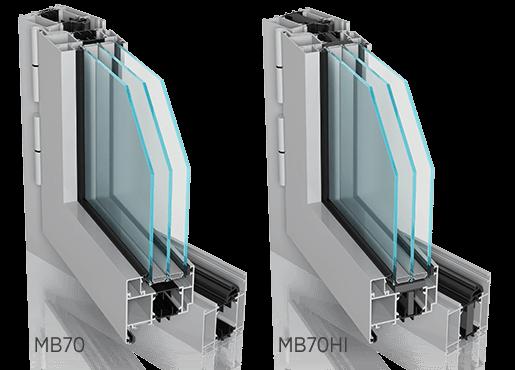 Алюмінієві зовнішні вікна ALUPROF MB70, MB70HI