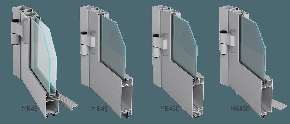 Алюмінієві внутрішні двері Aluprof MB45 або MB45D для промислових об'єктів