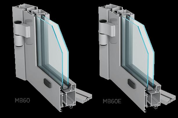 Алюмінієві зовнішні двері Aluprof MB60 або MB60E для промислових об'єктів