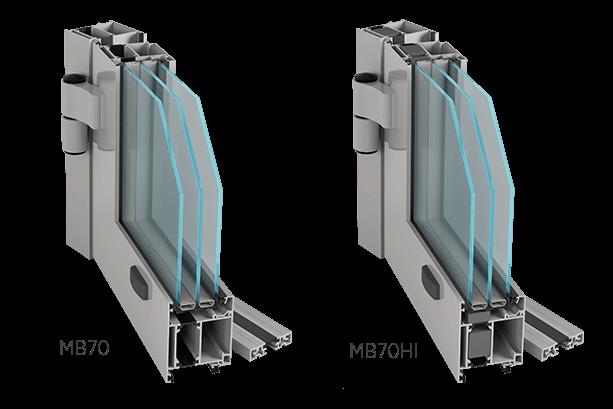 Алюмінієві зовнішні двері Aluprof MB70 або MB70HI для промислових об'єктів