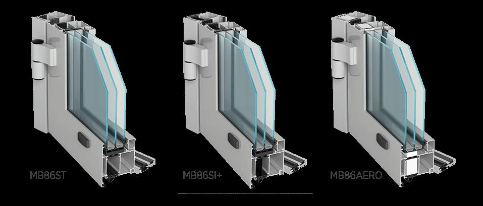 Алюмінієві зовнішні двері Aluprof MB86ST, MB86SI+, MB86AERO для промислових об'єктів
