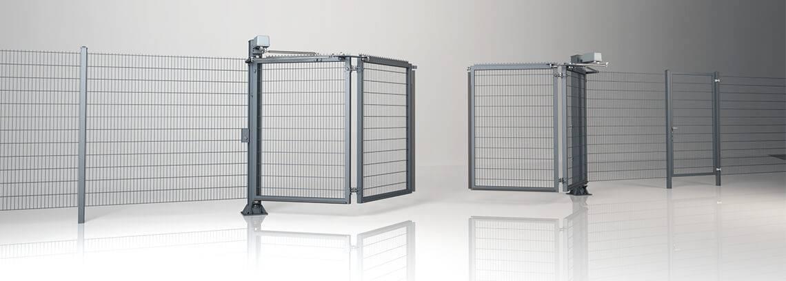 Промислові складні ворота V-KING із заповненням решітчастою панеллю Vega 2D Super