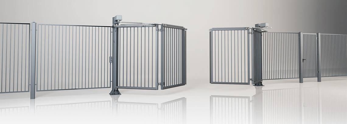 Промислові складні ворота V-KING із заповненням профілем 25×25 мм