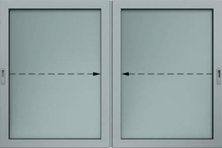 Внутрішнє алюмінієве розсувне вікно для промислових об'єктів