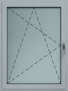 Розпашне та відкидне алюмінієве вікно
