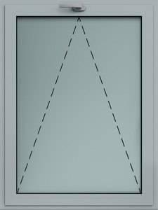 Відкидне алюмінієве вікно wisniowski