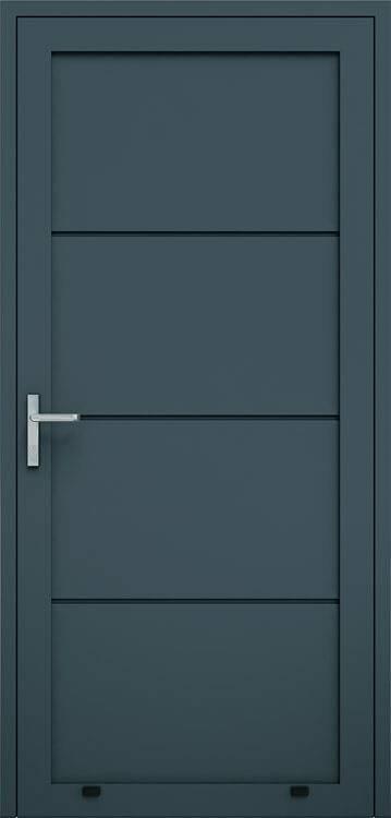 Алюмінієві панельні двері wisniowski без формування