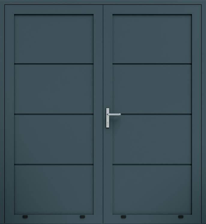 Алюмінієві панельні двостулкові двері wisniowski без формування