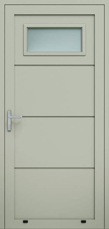 Алюмінієві панельні двері wisniowski без формування, скління А1