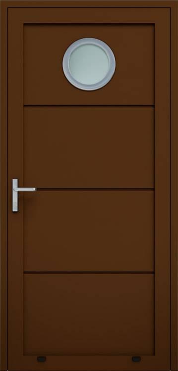 Алюмінієві панельні двері wisniowski без формування, скління О
