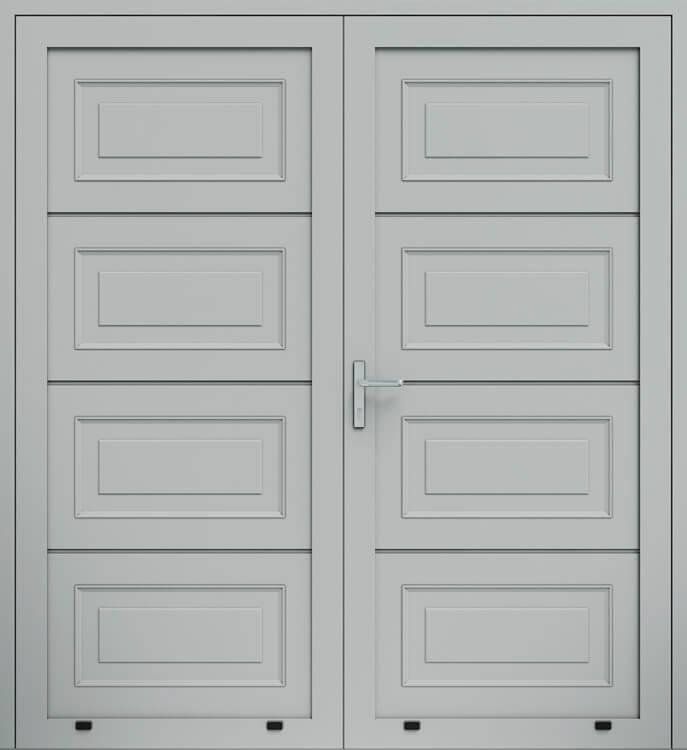 Алюмінієві панельні двостулкові двері wisniowski, кесони