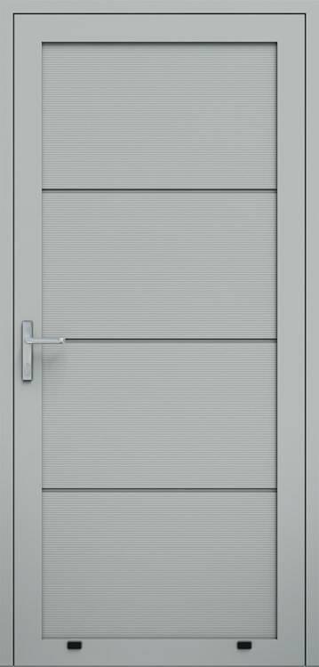 "Алюмінієві панельні двері wisniowski, панель ""V"""