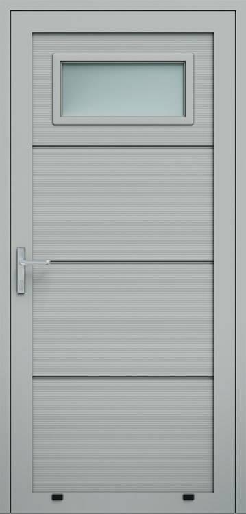 """Алюмінієві панельні двері wisniowski, панель """"V"""", скління А1"""