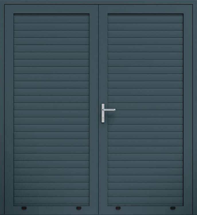 Алюмінієві панельні двостулкові двері wisniowski, профіль AW100