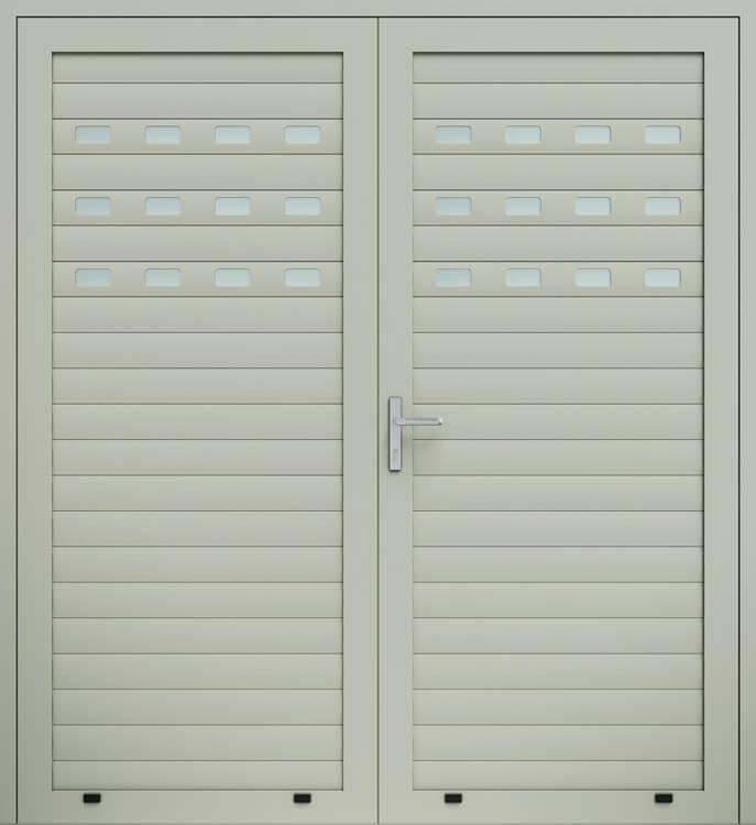 Алюмінієві панельні двостулкові двері wisniowski, засклений профіль AW100