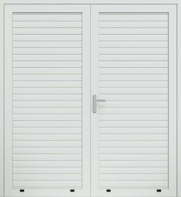 Алюмінієві панельні двостулкові двері wisniowski, профіль AW77
