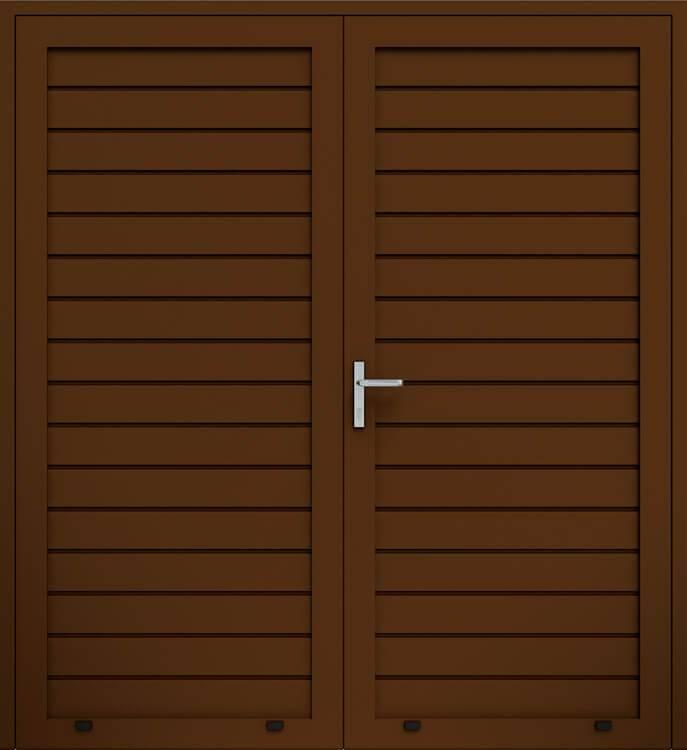 Алюмінієві панельні двостулкові двері wisniowski, низьке формування