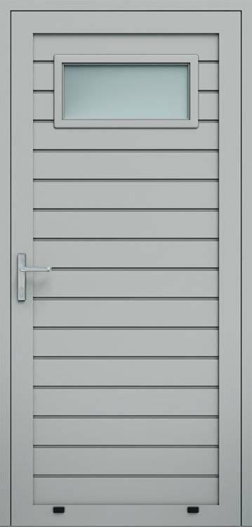 Алюмінієві панельні двері wisniowski, низьке формування, скління А1