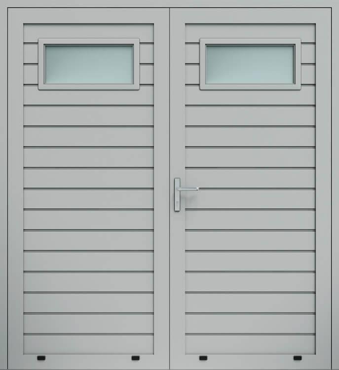 Алюмінієві панельні двостулкові двері wisniowski, низьке формування, скління А1
