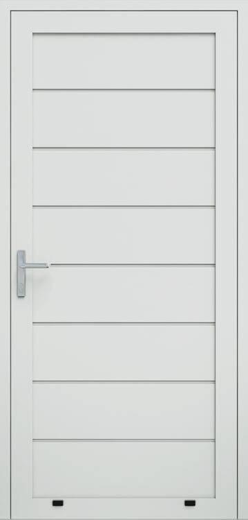 Алюмінієві панельні двостулкові двері wisniowski, високе формування