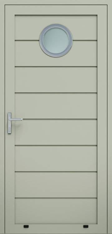 Алюмінієві панельні двері wisniowski, високе формування, скління О