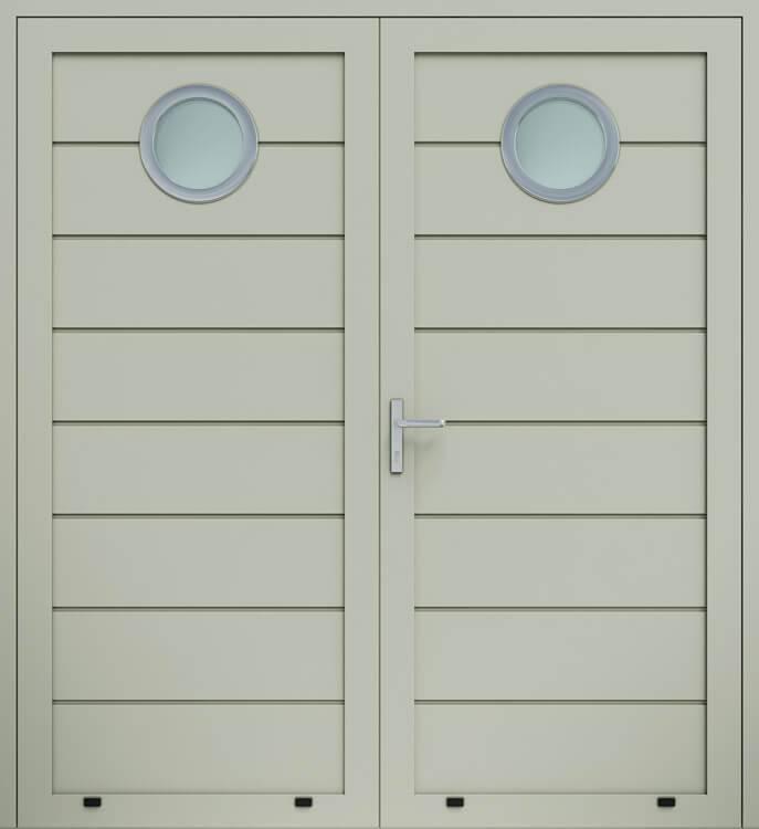 Алюмінієві панельні двостулкові двері wisniowski, високе формування, скління О