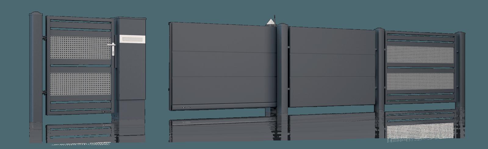Сегменти та стовпці для огорожі. Система MultiBox