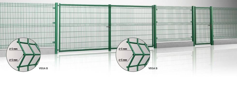 Розпашні ворота та хвіртка системи MODEST для промисловості - заповнення панеллю Vega B
