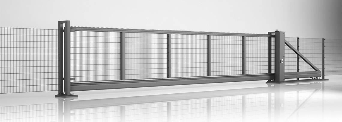 Решітчасті панелі VEGA 2D - пересувні ворота PI 200 та панель VEGA 2D Super