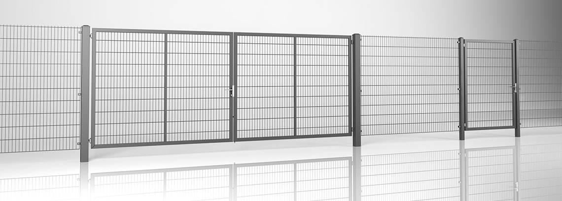 Решітчасті панелі VEGA 2D - ворота з хвірткою GARDIA та панель VEGA 2D Super